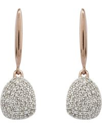 Monica Vinader - Rose Gold Vermeil Nura Small Pebble Diamond Drop Earrings - Lyst