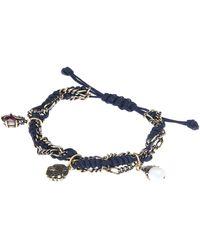 Alexander McQueen Gold-tone Friendship Charm Bracelet - Black