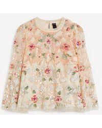 Needle & Thread Harlequin Rose Sequin Top - Multicolour