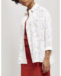 Paloma Wool Leonidas Paloma Bird Print Loose Shirt - White