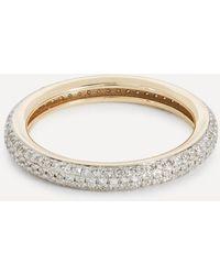 Otiumberg 9ct Gold Chunky Diamond Band Ring - Metallic