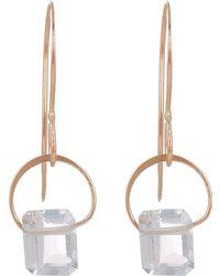Melissa Joy Manning - Gold Emerald Cut Aquamarine Drop Earrings - Lyst