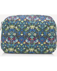 Liberty Strawberry Thief Large Wash Bag - Blue