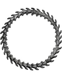 Shaun Leane Rhodium-plated Silver Serpents Trace Slim Bracelet - Metallic