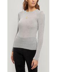 Paloma Wool Teide Metallic Knitted Long Sleeve Top