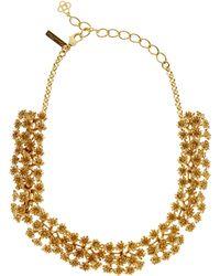 Oscar de la Renta Gold-tone Runway Mini Flower Necklace - Metallic
