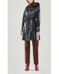 Rains Holographic Curve Water-resistant Jacket - Black