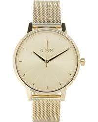 Nixon - Gold-tone Kensington Milanese Watch - Lyst
