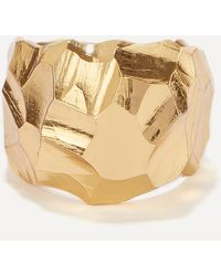 All_blues Gold Plated Vermeil Silver Rauk Wide Ring - Metallic