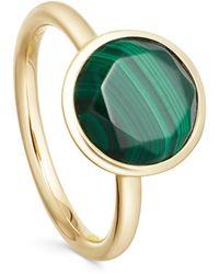 Astley Clarke Gold Vermeil Stilla Malachite Ring - Metallic