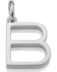 Monica Vinader - Silver Alphabet Pendant B - Lyst
