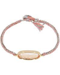 Brooke Gregson Gold Icicle Morganite Silk Chain Bracelet - Metallic