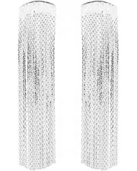Anissa Kermiche - Silver-plated Grand Fil D'argent Drop Earrings - Lyst
