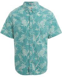 Reyn Spooner Aloha Pineapple Short-sleeve Shirt - Blue