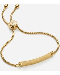 Monica Vinader Gold Plated Vermeil Silver Havana Mini Chain Friendship Bracelet - Metallic
