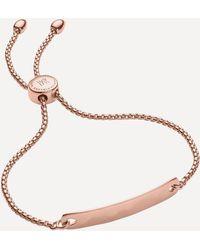 Monica Vinader Rose Gold Plated Vermeil Silver Havana Mini Friendship Chain Bracelet - Metallic