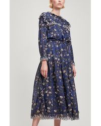 Étoile Isabel Marant - Eina Embroidered Floral Dress - Lyst