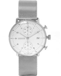 Junghans   Stainless Steel Milanese Max Bill Chronoscope Watch   Lyst