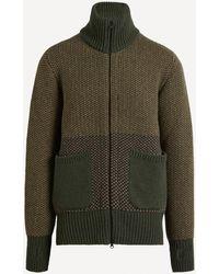 Oliver Spencer Zip-through Knit Cardigan - Green