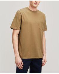 WOOD WOOD Bobby Pocket T-shirt - Brown