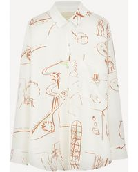 Paloma Wool Misa Casa-print Loose-fit Shirt - White