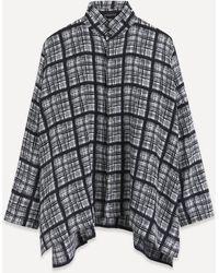 Eskandar Checked Silk Shirt - Multicolour