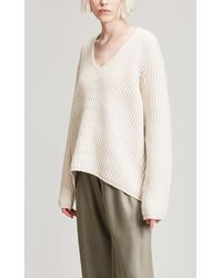 Acne Studios - Deborah V-neck Wool Knit - Lyst