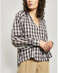 MASSCOB Carole Checked Cotton Shirt - Blue