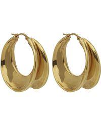 Céline - Antique Folded Hoop Earrings - Lyst