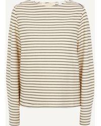 Erika Cavallini Semi Couture - Tie-back Stripe Top - Lyst