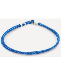 Miansai Sterling Silver Orson Loop Bungee Rope Bracelet - Blue