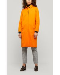 PS by Paul Smith Straight-cut Mac Coat - Orange