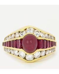 Kojis 18ct Gold Ruby And Diamond Ring - Metallic