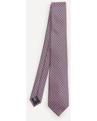 Lanvin Circle Woven Silk Tie - Purple
