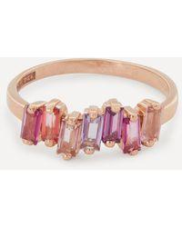 Suzanne Kalan Rose Gold Multi-stone Fireworks Ring - Pink