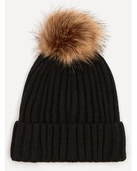Christys' Wool-blend Pom Pom Beanie Hat - Black
