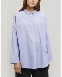 Oska Hjordis Cotton Shirt - Blue