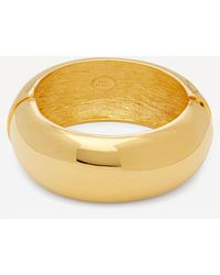 Kenneth Jay Lane Gold-plated Wide Domed Bangle - Metallic