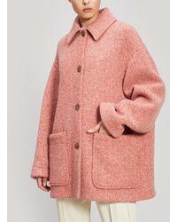 Acne Studios Oversized Wool-blend Short Coat - Pink