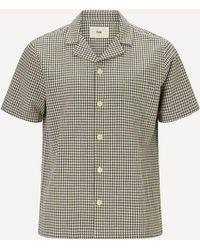 Folk Soft Collar Short-sleeve Shirt - Multicolour