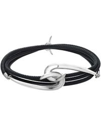 Shaun Leane Silver Hook Leather Bracelet - Metallic