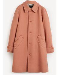 A.P.C. Suzanne Textured Wool-blend Mac - Pink