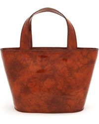 Paloma Wool Dinus Small Patent Leather Tote Bag - Brown
