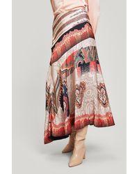 Liberty Vita Satin Knee-length Skirt - Black