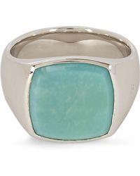 Tom Wood Cushion Turquoise Ring - Metallic
