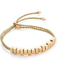 Monica Vinader Linear Ingot Friendship Bracelet - Metallic