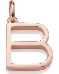 Monica Vinader - Rose Gold-plated Alphabet Pendant B - Lyst
