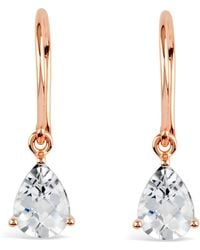 Dinny Hall Rose Gold Plated Vermeil Silver Gem Drop White Topaz Earrings - Metallic