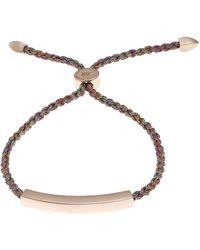 Monica Vinader Rose Gold Vermeil Linear Cord Friendship Bracelet - Metallic