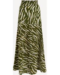 Hayley Menzies Shimmering Water Tiger Maxi-skirt - Green